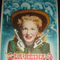 Cine: LA REINA DEL OESTE. BETTY HUTTON, HOWARD KEEL. GEORGE SIDNEY. GRAN CINEMA 1951. Lote 50054699