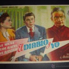 Cine: EL DIABLO Y YO. PAUL MUNI, ANNE BAXTER, CLAUDE RAINS. ARCHIE MAYO. CINE CLARIN. Lote 50054757
