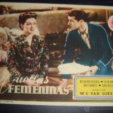 Cine: HUELLAS FEMENINAS. ROSALIND RUSSELL. W.S.VAN DIKE II. GRAN CINEMA. Lote 50054837