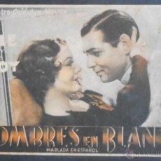 Folhetos de mão de filmes antigos de cinema: HOMBRES EN BLANCO,FOLLETO DE MANO,(7764),CARTULINA,CONSERVACION,VER FOTOS. Lote 50074468
