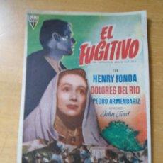 Cine: ANTIGUO PROGRAMA CINE - EL FUGITIVO - HENRY FONDA. Lote 50268470