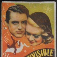 Folhetos de mão de filmes antigos de cinema: UNA PAREJA INVISIBLE,FOLLETO DE MANO,(8787),CONSERVACION,VER FOTOS. Lote 50284828