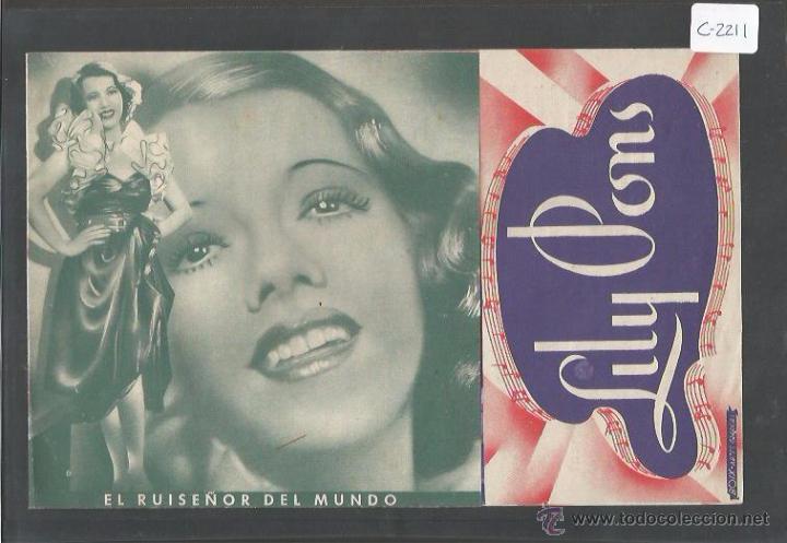 LILY PONS - HENRY FONDA - DOBLE - CINEMA UNIO -(C- 2211) (Cine - Folletos de Mano - Aventura)