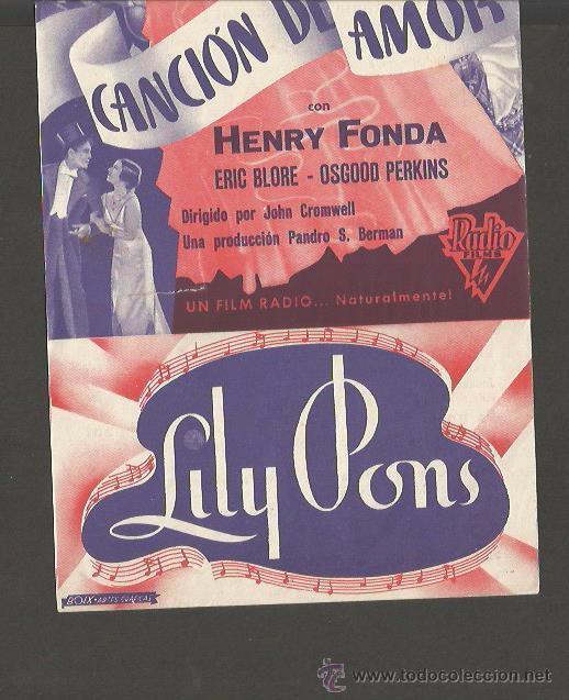 Cine: LILY PONS - HENRY FONDA - DOBLE - CINEMA UNIO -(C- 2211) - Foto 3 - 50301520