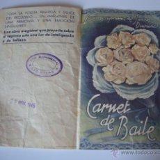 Cine: ANTIGUO PROGRAMA DOBLE CARNET DE BAILE MARIE BELL CINE MONUMENTAS LAS BAYAS ELCHE. Lote 50452914