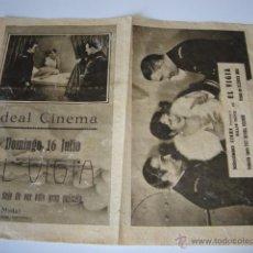 Cine: ANTIGUO Y RARO PROGRAMA COPIA MUDA EL VIGIA BILLIE DOVE DONALD REED IDEAL CINEMA ELCHE AÑOS 20/30. Lote 50452947
