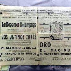 Cine: EL REPORTERO RELAMPAGO 1928 ...PROGRAMA CINE MUDO DOBLE PASQUIN CARTEL LOCAL ORIGINAL. Lote 50474562