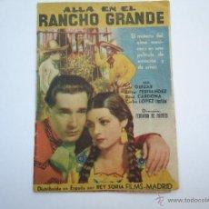 Cine: PROGRAMA DE CINE, ALLA EN EL RANCHO GRANDE, CON TITO GUIZAR, Y ESTHER FERNÁNDEZ, ES DOBLE. Lote 50503843