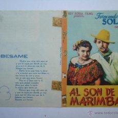 Cine: PROGRAMA DE CINE, AL SON DE LA MARIMBA, CON FERNANDO SOLER, ES DOBLE.VER FOTOS.. Lote 50503946