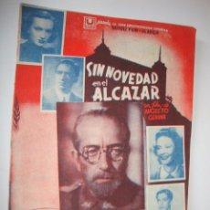 Cine: ANTIGUO PROGRAMA DOBLE AÑO 1941 CARTELERA CUADRUPLE SIN NOVEDAD EN EL ALCAZAR, GRAN TEATRO, ELCHE. Lote 50516187
