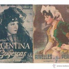 Cine: FOLLETO DE MANO GOYESCAS ANTIGUO IMPERIO ARGENTINA CINE JU. Lote 50517099