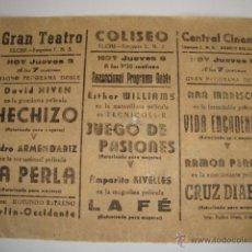 Cinema - ANTIGUO PROGRAMA DOBLE AÑOS 30 - 50517645