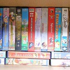 Cine: 64 CINTAS ORIGINALES VHS DE CLÁSICOS DISNEY. Lote 50558345
