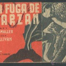 Cine: LA FUGA DE TARZAN PROGRAMA DOBLE MGM JOHNNY WEISSMULLER MAUREEN O'SULLIVAN. Lote 50583739