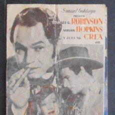 Cine: LA CIUDAD SIN LEY,FOLLETO DE MANO,(10627),CONSERVACION,VER FOTOS. Lote 50589647