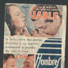 Cine: HOMBRES EN BLANCO PROGRAMA DOBLE MGM CLARK GABLE MYRNA LOY. Lote 50651592
