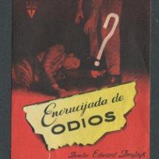 Cine: ENCRUCIJADA DE ODIOS PROGRAMA DOBLE TROQUELADO RKO ROBERT MITCHUM GLORIA GRAHAME. Lote 50652453