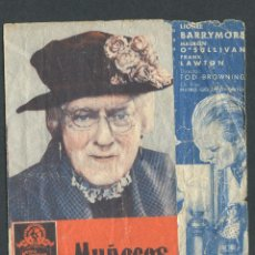 Cine: MUÑECOS INFERNALES PROGRAMA DOBLE MGM TOD BROWNING LIONEL BARRYMORE MAUREEN O'SULLIVAN PUBLICIDAD. Lote 50659738