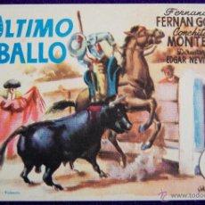 Cine: PROGRAMA DE CINE DE MANO ORIGINAL. EL ULTIMO CABALLO. FERNANDO FERNAN GOMEZ-CONCHITA MONTES.. Lote 295338408