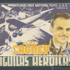 Cine: AGUILAS HEROICAS PROGRAMA DOBLE WARNER JAMES CAGNEY PAT O'BRIEN HOWARD HAWKS. PUBLICIDAD. Lote 50704909