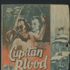 Cine: EL CAPITAN BLOOD PROGRAMA DOBLE WARNER ERROL FLYNN OLIVIA DE HAVILLAND. Lote 50725748
