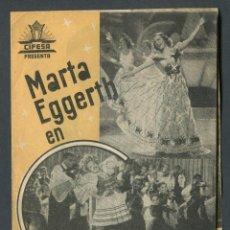 Cine: CUANDO ME SIENTO FELIZ - MARTA EGGERTH, PAUL HORBIGER - CON PUBLICIDAD. Lote 50725750