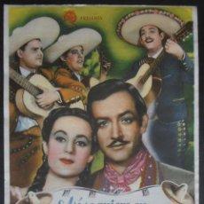 Foglietti di film di film antichi di cinema: ASI SE QUIERE EN JALISCO,FOLLETO DE MANO (9192),CONSERVACION,VER FOTOS. Lote 101306568
