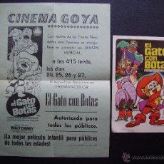 Cine: EL GATO CON BOTAS, CINEMA GOYA DE ALCOY. Lote 50741183