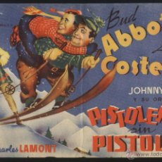 Cine: P-5459- PISTOLEROS SIN PISTOLAS (BUD ABBOTT - LOU COSTELLO - GINNY SIMMS). Lote 50742978