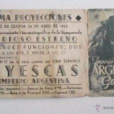 Cine: GOYESCAS CON IMPERIO ARGENTINA, PROGRAMA DOBLE 1943. Lote 50756104