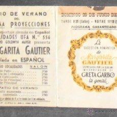 Cine: MARGARITA GAUTIER,FOLLETO DE MANO (10931),CONSERVACION,VER FOTOS. Lote 50805481