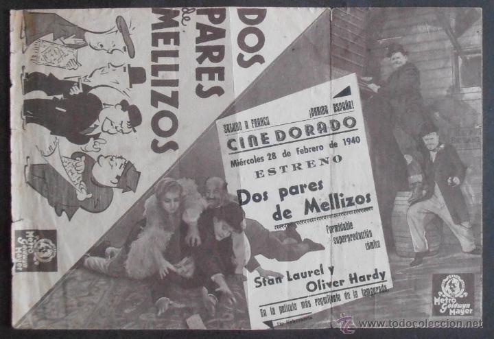Cine: DOS PARES DE MELLIZOS,FOLLETO DE MANO (11219),CONSERVACION,VER FOTOS - Foto 2 - 50883552