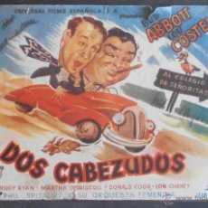 Foglietti di film di film antichi di cinema: DOS CABEZUDOS,FOLLETO DE MANO (11289),CONSERVACION,VER FOTOS. Lote 50888959
