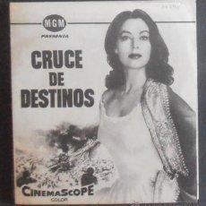 Cine: CRUCE DE DESTINOS,FOLLETO DE MANO (11296),CONSERVACION,VER FOTOS. Lote 50889356