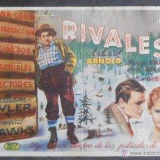 Foglietti di film di film antichi di cinema: RIVALES,FOLLETO DE MANO (11463),CONSERVACION,VER FOTOS. Lote 50953571