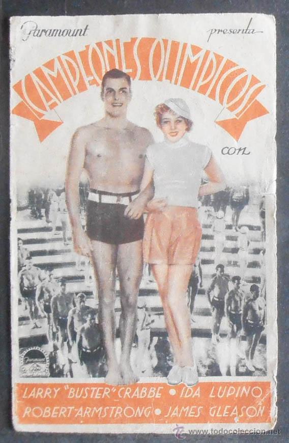 CAMPEONES OLIMPICOS,FOLLETO DE MANO (11517),CONSERVACION,VER FOTOS (Cine - Folletos de Mano - Deportes)