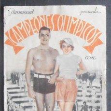 Cine: CAMPEONES OLIMPICOS,FOLLETO DE MANO (11517),CONSERVACION,VER FOTOS. Lote 50955844
