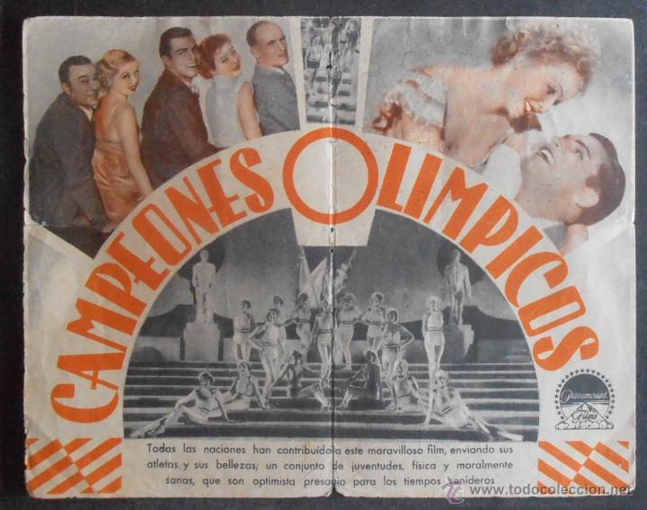 Cine: CAMPEONES OLIMPICOS,FOLLETO DE MANO (11517),CONSERVACION,VER FOTOS - Foto 3 - 50955844