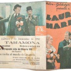 Cine: PROGRAMA DOBLE *LA ESTROPEADA VIDA DE OLIVERIO VIII* 1942 LAUREL Y HARDY. TARAMONA SALAMANCA. Lote 50966649