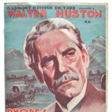Cine: PROGRAMA DOBLE * RHODES EL CONQUISTADOR* 1940 WALTER HUSTON OSCAR HOMOLKA SANTA CRUZ OVIEDO ASTURIAS. Lote 50967026