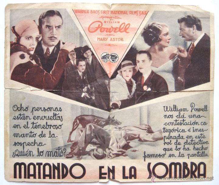 Cine: PROGRAMA DOBLE *MATANDO EN LA SOMBRA* WILLIAM POWELL MARY ASTOR. TEATRO CIRCULO - Foto 4 - 50967889