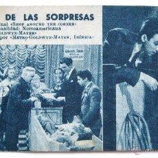 Cine: PROGRAMA TARJETA METRO GOLDWYN MAYER *EL BAZAR DE LAS SORPRESAS* JAMES STEWART MARGARET SULLAVAN. Lote 50967998