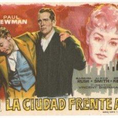 Cine: LA CIUDAD FRENTE A MI - PAUL NEWMAN, BARBARA RUSH - DIRECTOR VINCENT SHERMAN - WARNER BROS - JANO. Lote 51098339