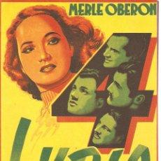 Cine: LYDIA - MERLE OBERON, ALAN MARSHAL, JOSEPH COTEN, HANS YARAY, EDNA MAY OLIVER - ALEXANDER KORDA. Lote 51098866