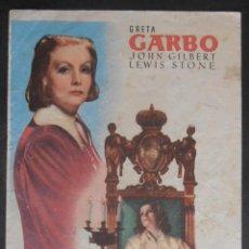 Cine: LA REINA CRISTINA DE SUECIA,FOLLETO DE MANO (9434),CONSERVACION,VER FOTOS. Lote 51103925