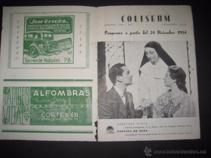 Cine: CINE COLISEUM - PROGRAMA - LIBRITO - VER FOTOS -(C-2254) - Foto 2 - 51105292