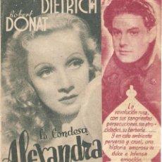 Cine: LA CONDESA ALEXANDRA - MARLENE DIETRICH, ROBERT DONAT - DIRECTOR ALEXANDER KORDA. Lote 51116359