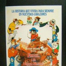Cine: FIEVEL Y EL NUEVO MUNDO-DON BLUTH-STEVEN SPIELBERG-1995. Lote 51154873