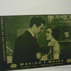 Cine: PROGRAMA CARTULINA MARIDO Y MUJER - CONCHITA MONTENEGRO. Lote 51188794