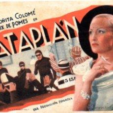 Cine: FOLLETO DE MANO EN CARTULINA RATAPLAN-1945. Lote 51223643